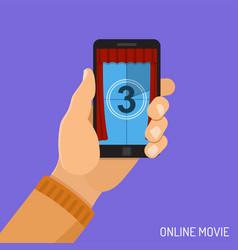online movie concept vector image
