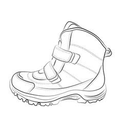 sketch of winter shoes vector image vector image