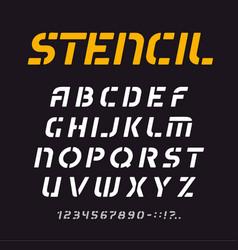 stencil font geometric alphabet minimal letters vector image