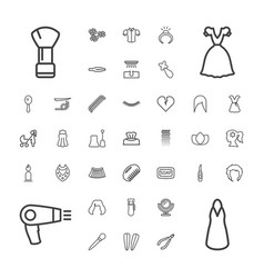 37 beauty icons vector