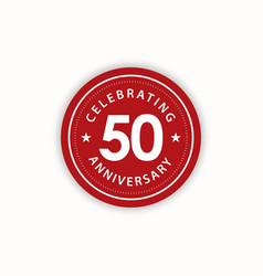 50 years anniversary celebrating retro vintage vector
