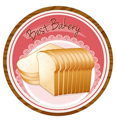 A best bakery label with a loaf of bread vector