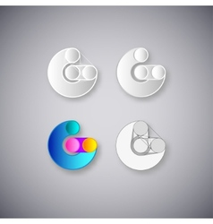 Abstract combination letter g vector