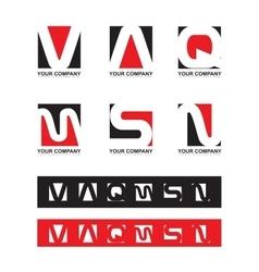 Alphabet letter set vector