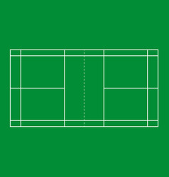 badminton court background vector image