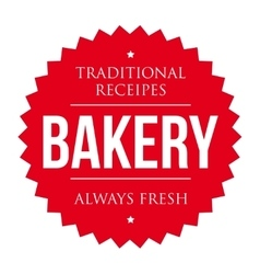 Bakery vintage badge vector