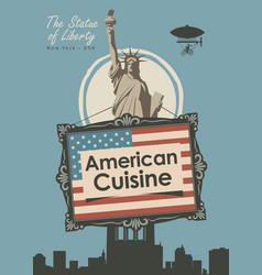 Banner for a restaurant american cuisine vector