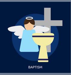 Baptism conceptual design vector