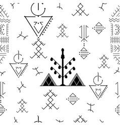 berber tattoos vector image