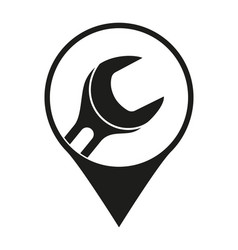 black and white car repair service location marker vector image