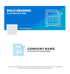 Blue business logo template for internet page web vector