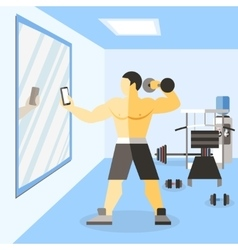 Bodybuilder narciss poster vector