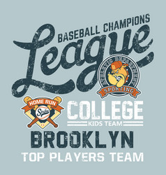 bulldog baseball college kids league vector image