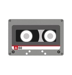 Cassette music retro icon vector