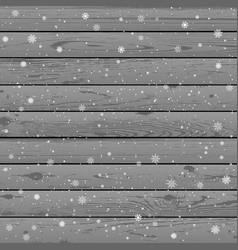 christmas snow winter wood background vector image
