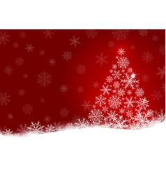 christmas tree design of snowflake vector image