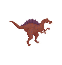 dark red spinosaurus standing isolated on white vector image