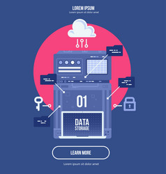 data network management big data machine learning vector image