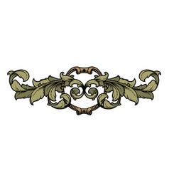 decorative frame with vintage pattern vector image