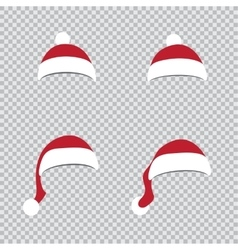 different Santa hats vector image