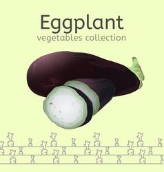 eggplant image vector image