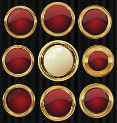 Empty luxury golden labels collection 2 vector