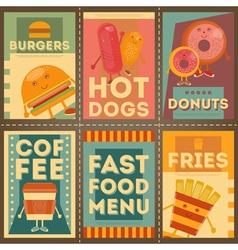 Fast food brochure vector