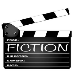 fiction clapperboard vector image