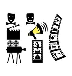 Film movie camera mask vector