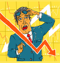 financial crisis and exchange officer vector image