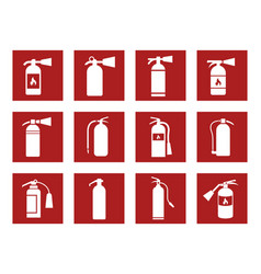 fire extinguisher icons vector image
