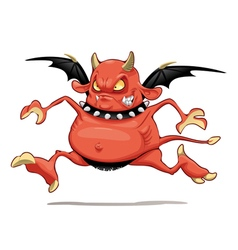 Funny demon vector