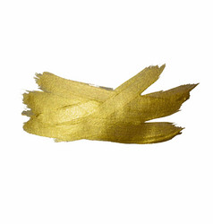 gold texture paint stain hand drawn brush stroke vector image