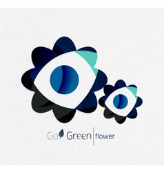 Green eco unusual background concept - flowers vector image