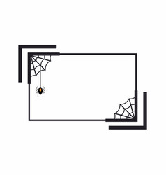halloween holiday frame web banner design vector image