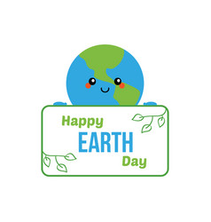 happy earth day card banner vector image