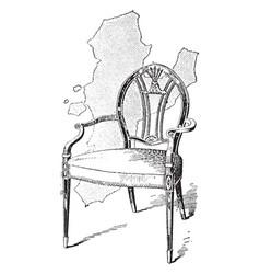 Hepplewhite arm chair vintage vector