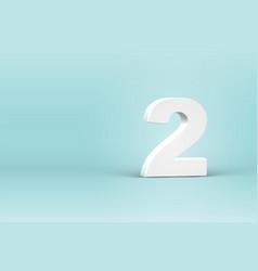 High detailed 3d font number vector