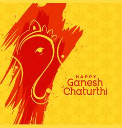 Hindu lord ganesha festival greeting background vector