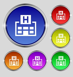 Hotkey icon sign Round symbol on bright colourful vector
