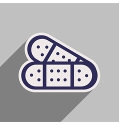 Icon of medical plaster in flat style vector