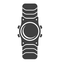 Icon wristwatch on white vector