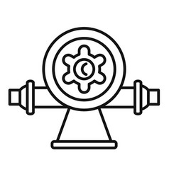 Irrigation water dispenser icon outline style vector
