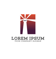 lighthouse logo design concept template vector image
