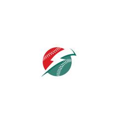 lightning ball logo icon vector image