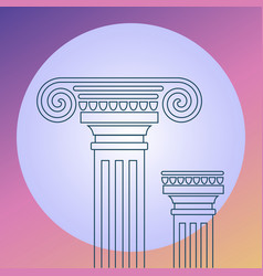 lineart on background ancient architecture vector image