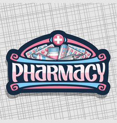 Logo for pharmacy vector