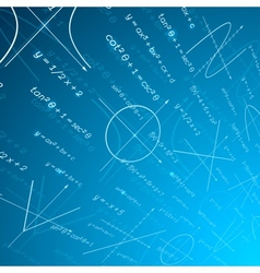 Mathematics perspective background vector image