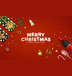modern merry christmas greeting card 2 vector image