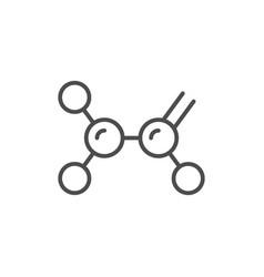 molecule structure line outline icon vector image